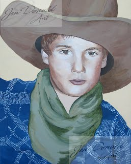 Jennifer Donald portraits Virginia paintings children portrait Peddlers Market Colonial Beach Virginia fine art artist