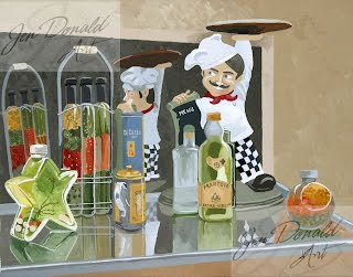 Jennifer Donald When The Moon Hits Your Eye Peddlers Market Colonial Beach Virginia fine art artist chef pizza restaurant painting