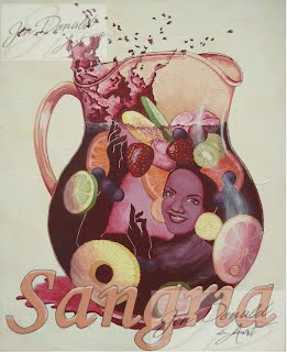 Jennifer Donald Carmen Miranda Sangria wine paintings