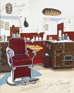 Jennifer Donald Shave and a Haircut Colonial Beach Virginia fine art artist