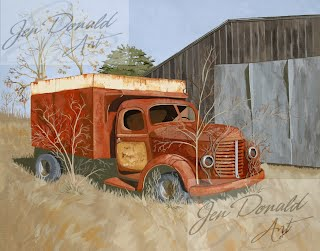 Jennifer Donald The Legacy of Randolph Fisher old truck painting Colonial Beach Virginia art artist