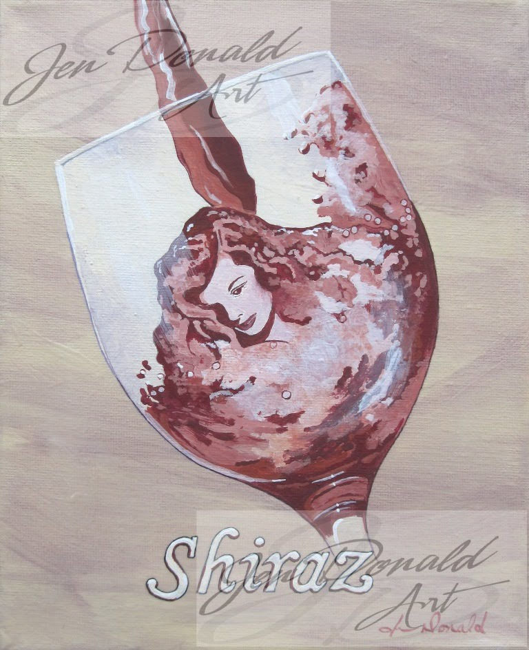 Colonial Beach Virginia wine art shiraz virginia wine artist Kathryn Hepburn art