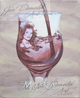 Jennifer Donald A Day Without Wine Merlot Rita Hayworth wine painting, Colonial Beach Virginia, Colonial Beach real estate, Colonial Beach attractions, Colonial Beach tourism
