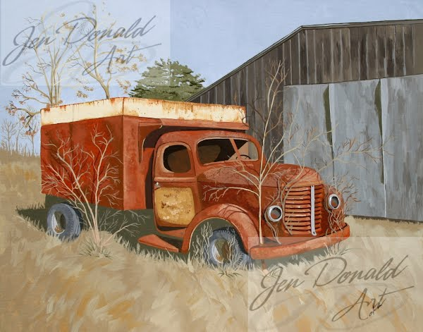 Jennifer Donald The Legacy of Randolph Fisher old truck painting