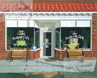 Jennifer Donald Just Walk In restaurant diner Tappahannock Virginia Colonial Beach Virginia artist