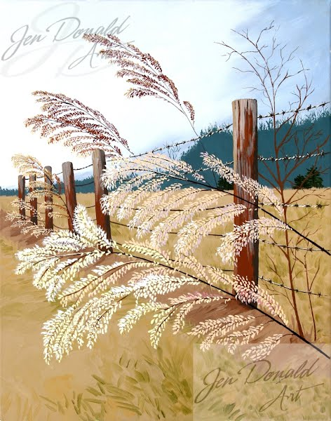 Jennifer Donald Winter's Flowers landscape painting Tappahannock VA